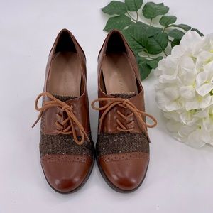 Etienne Aigner 'Jodell' brown leather Oxford Shoes
